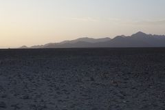 Sunset nasca lines Stock Photo