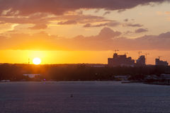 Sunset in Nassau Stock Photo