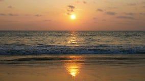 Sunset at Natai beach, Phangnga, Thailand stock footage