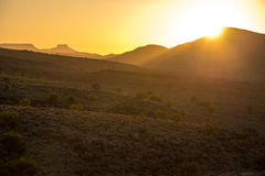 Sunset in the naukluft mountain namibia Royalty Free Stock Images