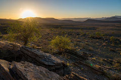 Sunset in the naukluft mountain namibia Royalty Free Stock Image