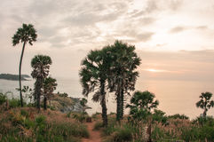 Sunset at Nay Harn on Phuket island in Thailand Stock Images
