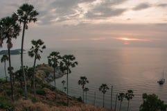 Sunset at Nay Harn on Phuket island in Thailand Royalty Free Stock Photos