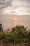 Sunset at Nay Harn on Phuket island in Thailand Stock Photo