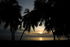 Sunset near the beach in Malaysia. Sunset near the beach in north of Malaysia Stock Photos