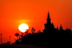 Sunset near Castle evenings. Stock Image