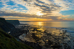 Sunset near Cliffs of Moher Royalty Free Stock Images