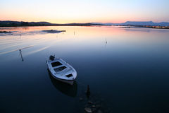 Sunset Near Corfu Airport Stock Photography
