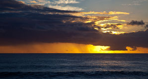 Sunset near Eastern Island Royalty Free Stock Images