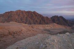 Sunset near Eilat, Yehoash mountain. Israel Royalty Free Stock Images
