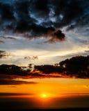 Sunset. Near Kona, Hawaii Royalty Free Stock Photo