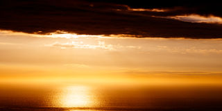 Sunset. Near Kona, Hawaii Stock Photos