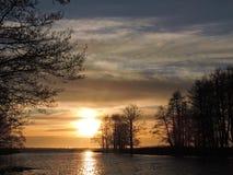 Free Sunset Near Lake, Lithuania Stock Image - 53175071
