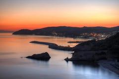 Sunset near Metalia beach, Limenaria, Thassos island, Greece Stock Photo