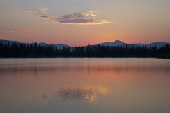 Sunset near Mount Evans. Sunset over a lake near Mount Evans in Colorado, USA royalty free stock photo