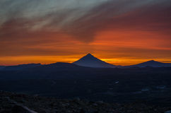 Sunset near Mutnovsky volcano Stock Image
