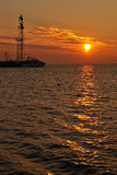 Sunset near Pomorie Stock Image