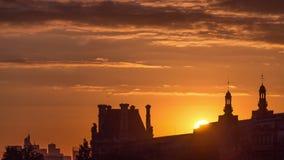 Sunset near Pont des Arts in Paris timelapse, France