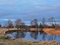 Sunset near river Stock Image
