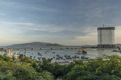 Sunset near sea in Nha Trang city. In Vietnam Royalty Free Stock Image