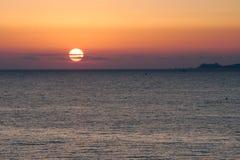 Sunset near the shore of Corsica stock photos