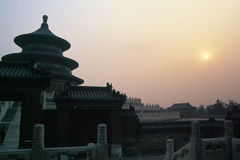 Sunset near Temple of Heaven. Sunset near the Temple of Heaven, Beijing, China Stock Photos