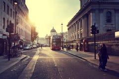 Sunset near Trafalgar square Royalty Free Stock Photo