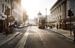 Sunset near Trafalgar square, London Stock Image
