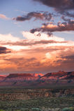 Sunset near zion national park Stock Images