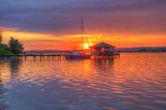 Sunset near Zvezditsa village, Black sea, Bulgaria stock photography
