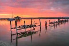 Sunset near Zvezditsa village, Black sea, Bulgaria royalty free stock photo