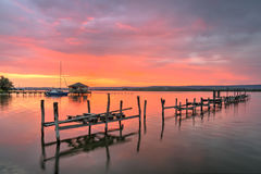 Sunset near Zvezditsa village, Black sea, Bulgaria stock image