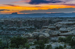 Sunset in Needles District Royalty Free Stock Photo