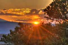Sunset in Needles District Royalty Free Stock Photography