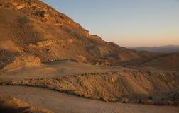 Sunset in Negev desert Stock Photography