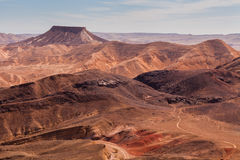 Sunset in the Negev desert. Makhtesh Ramon Crater Royalty Free Stock Photos