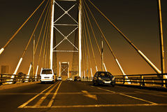 Sunset on Nelson Mandela Bridge Royalty Free Stock Images
