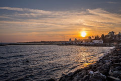 Sunset in Nessebar New Town Stock Photos