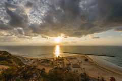 Sunset in Netanya Stock Image