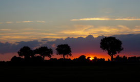 Sunset in the Netherlands. Royalty Free Stock Photography