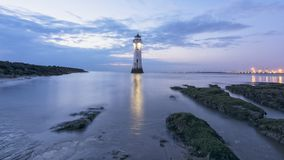 Perch Rock Lighthouse New Brighton Wirral England UK Stock Images