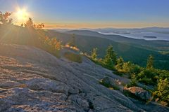 Sunset in New England. Sunset from Mount Major, NH USA Royalty Free Stock Images