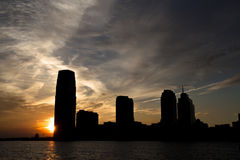 Sunset in new jersey stock photography