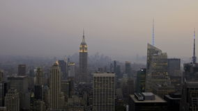 Sunset New York City. HDR-Timelapse View of New York City Downtown Sunset to Night stock footage