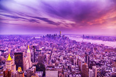 Sunset in New York City Stock Photo