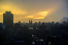 Sunset New York City Manhattan Royalty Free Stock Photography