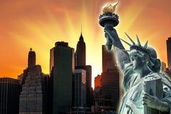 Sunset in New York City Stock Photo