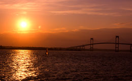 Sunset in Newport, Rhode Island. The Sunset on another beautiful day in Newport, Rhode Island. Image taken from color slide stock images