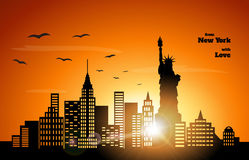 Sunset in NewYork Royalty Free Stock Photo