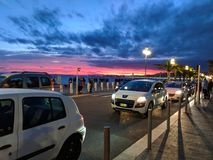 Sunset in nice Royalty Free Stock Photo